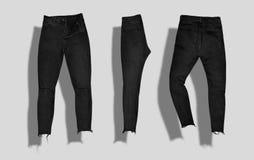 De reeks van het jeansmodel Stock Foto