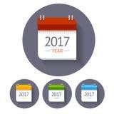 De Reeks van het kalenderpictogram Vector Stock Foto