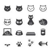 De reeks van het kattenpictogram Royalty-vrije Stock Foto's
