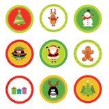 De reeks van het Kerstmisetiket stock illustratie