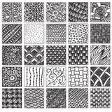 De reeks van het krabbelpatroon Royalty-vrije Stock Afbeeldingen