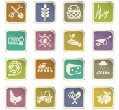 De reeks van het landbouwpictogram Royalty-vrije Stock Afbeelding
