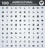 De reeks van het landbouwpictogram Stock Afbeelding