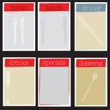 De reeks van het menu stock illustratie