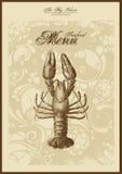 De reeks van het menu: vissen en zeevruchten Stock Afbeelding