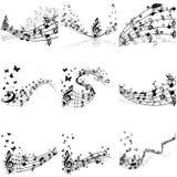 De reeks van het muzieknotenpersoneel Royalty-vrije Stock Foto's