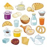 De Reeks van het ontbijt stock illustratie