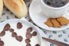 De reeks van het ontbijt Royalty-vrije Stock Foto
