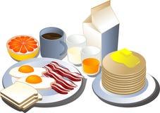 De reeks van het ontbijt Stock Afbeelding