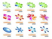 De Reeks van het Ontwerp van het embleem Stock Afbeeldingen