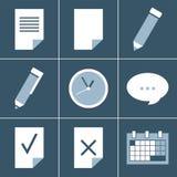 De reeks van het organisatorpictogram Stock Foto's