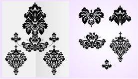 De reeks van het ornament royalty-vrije illustratie