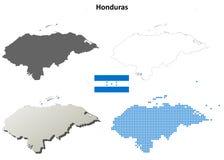 De reeks van de het overzichtskaart van Honduras Stock Fotografie