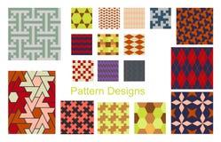 De reeks van het patroon Stock Afbeeldingen
