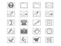 De Reeks van het pictogram Stock Foto