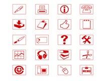 De Reeks van het pictogram Stock Fotografie