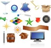 De reeks van het pictogram Stock Foto's