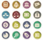 De Reeks van het Pictogram van financiën stock illustratie