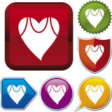 De reeks van het pictogram: gezondheid Royalty-vrije Stock Afbeeldingen