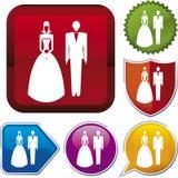 De reeks van het pictogram: huwelijk stock illustratie