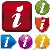 De reeks van het pictogram: info (vector) royalty-vrije illustratie