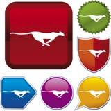 De reeks van het pictogram: jeopard Royalty-vrije Stock Afbeeldingen