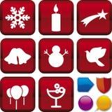 De reeks van het pictogram: Kerstmis Royalty-vrije Stock Foto