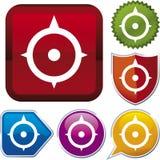 De reeks van het pictogram: kompas (vector) Stock Foto