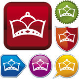 De reeks van het pictogram: koningin Stock Fotografie