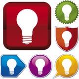 De reeks van het pictogram: lightbulb (vector Stock Foto