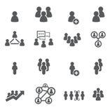 De Reeks van het Pictogram van mensen vector illustratie