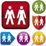 De reeks van het pictogram: mensen (vector) royalty-vrije illustratie