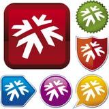 De reeks van het pictogram: pijl (vector) Royalty-vrije Stock Foto's