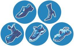De reeks van het pictogram schoenen Stock Afbeelding