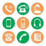 De Reeks van het Pictogram van de telefoon pictogrammen in een stijl van vlak ontwerp Royalty-vrije Stock Afbeelding