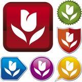 De reeks van het pictogram: tulp Royalty-vrije Stock Fotografie