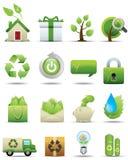 De Reeks van het Pictogram van de Bescherming van het milieu -- De Reeks van de premie Stock Foto