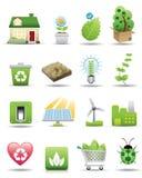 De Reeks van het Pictogram van de Bescherming van het milieu -- De Reeks van de premie Stock Afbeeldingen