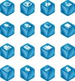 De Reeks van het Pictogram van de Kubus van toepassingen   royalty-vrije illustratie