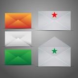 De Reeks van het Pictogram van de Marketing van de post. Royalty-vrije Stock Afbeeldingen