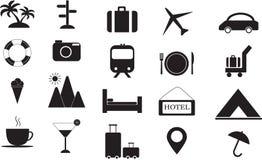De Reeks van het Pictogram van de reis Stock Afbeeldingen