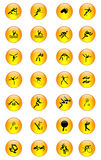 De Reeks van het Pictogram van de sport [03] Royalty-vrije Stock Afbeeldingen
