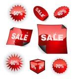 De Reeks van het Pictogram van de verkoop Stock Foto's