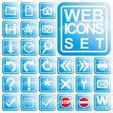 De Reeks van het Pictogram van het Web Stock Foto