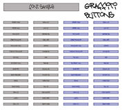 De Reeks van het Pictogram van het Web van het Type van Graffiti Royalty-vrije Stock Foto