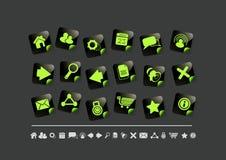 De Reeks van het Pictogram van Internet   Kleverig Stock Fotografie