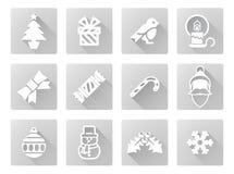 De Reeks van het Pictogram van Kerstmis Royalty-vrije Stock Foto's