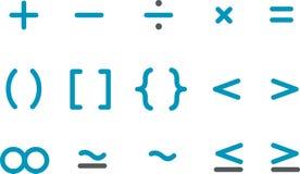 De Reeks van het Pictogram van Math Stock Afbeelding