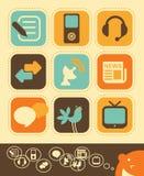 De Reeks van het Pictogram van media royalty-vrije illustratie