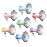 De Reeks van het Pictogram van megafoons stock illustratie